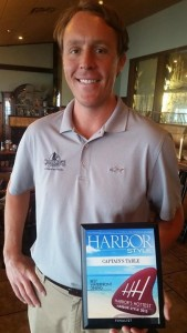 Captain's Table Manager Nate McKelvy receives Harbor's Hottest recognition.